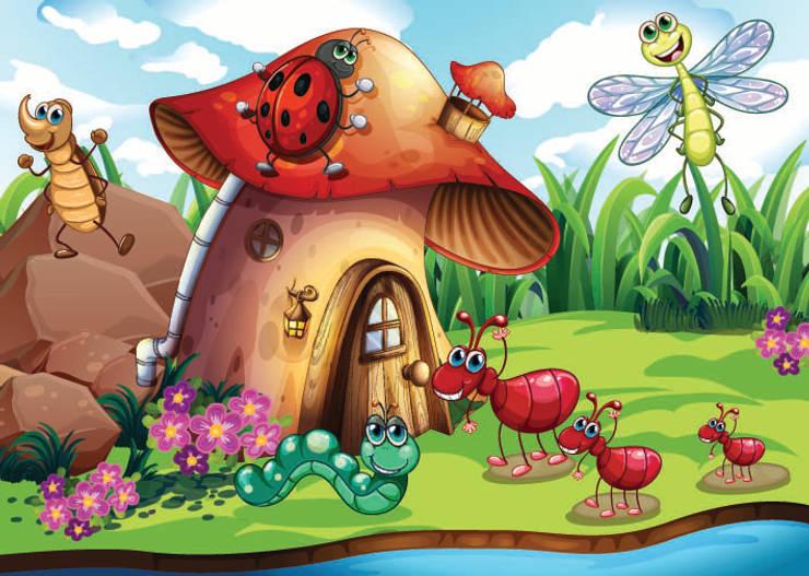 DEKOROS – Çocuk Odası Duvar Posterleri: klasik tarz tarz Duvar & Zemin