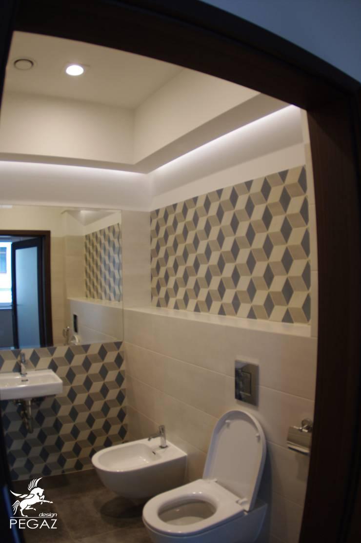 Łazienka : styl , w kategorii Łazienka zaprojektowany przez Pegaz Design Justyna Łuczak - Gręda,Minimalistyczny