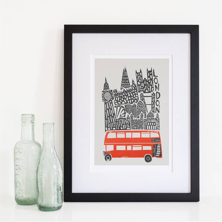 London Cityscape Print:  Artwork by Fox And Velvet