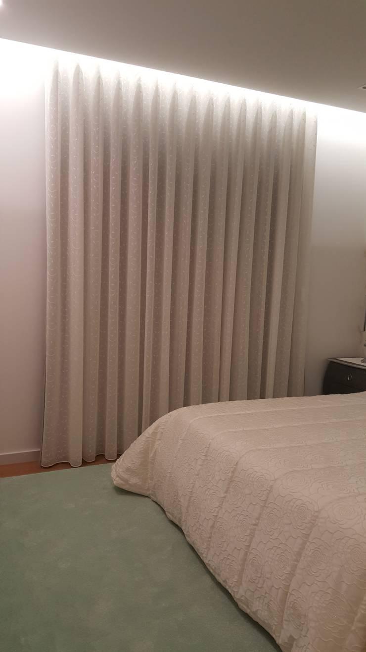 Apartamento T3: Quarto  por Decoracoes Gina, Lda