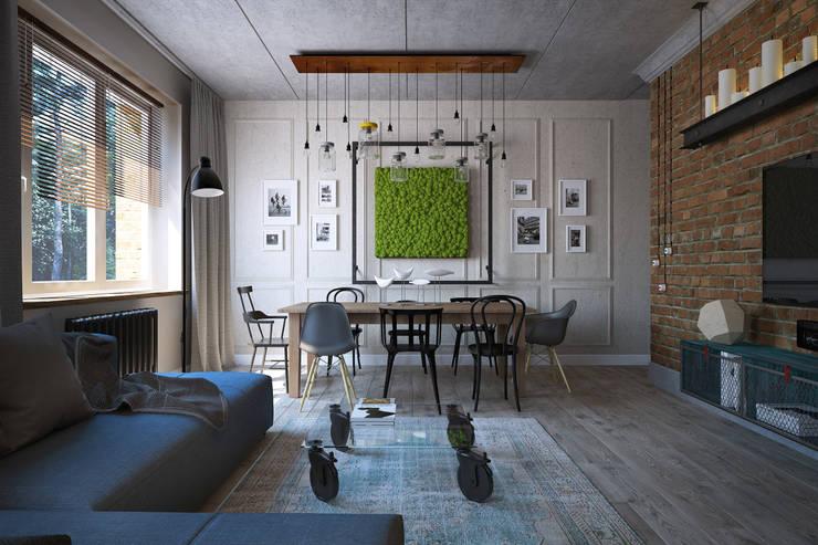 Living room by Студия Семена Вишнякова '1618 ROOM'