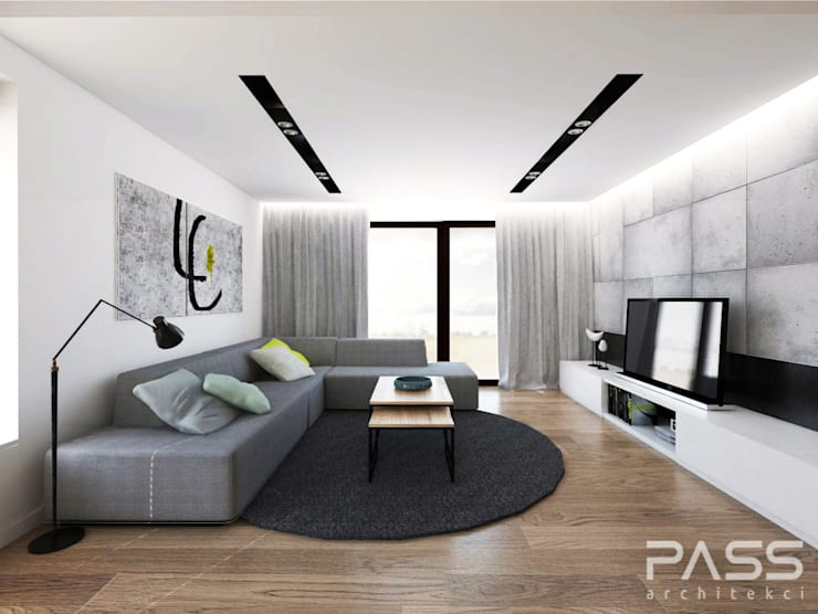 Living room by PASS architekci