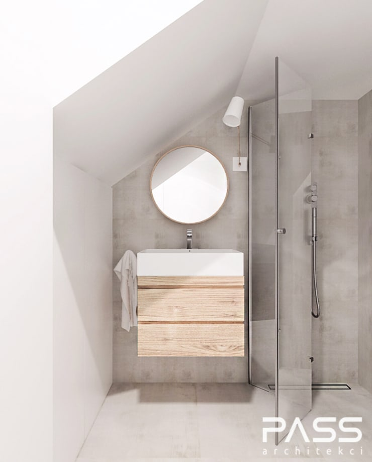 Bathroom by PASS architekci