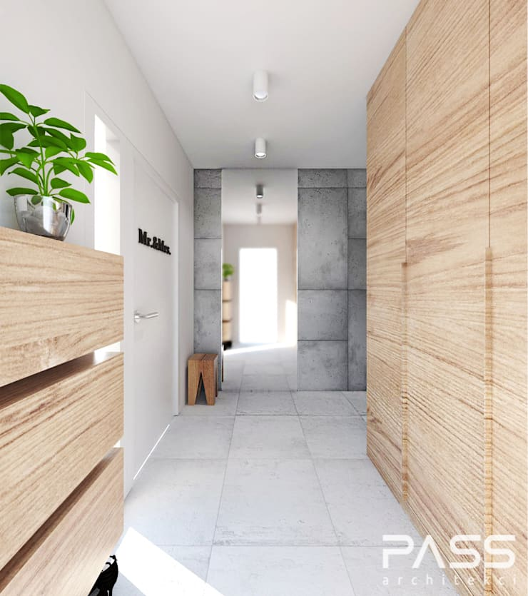 Corridor & hallway by PASS architekci