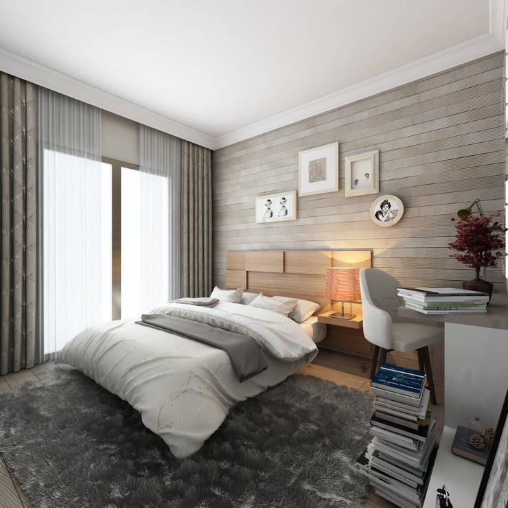 MİNERVA MİMARLIK – Yatak Odası:  tarz Yatak Odası