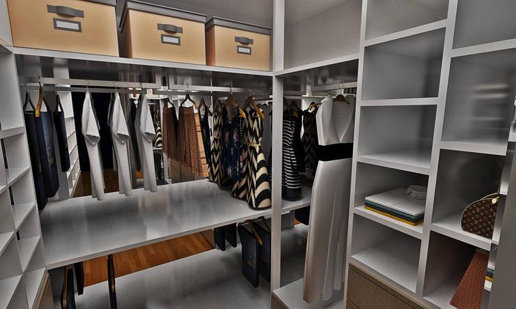 Projekty,  Garderoba zaprojektowane przez Atelier Par Deux