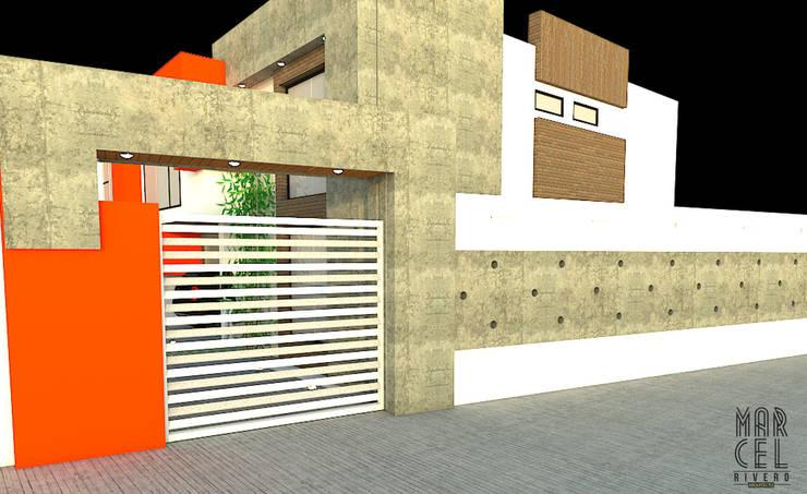 Vivienda Pareada: Casas de estilo  por Arquitectura Marcel Rivero