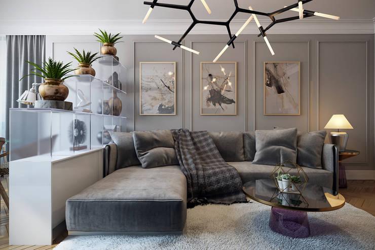 Projekty,  Salon zaprojektowane przez Дарья Баранович Дизайн Интерьера