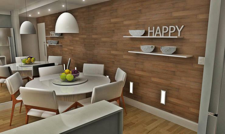 Sala de Jantar: Salas de jantar minimalistas por Atelier Par Deux