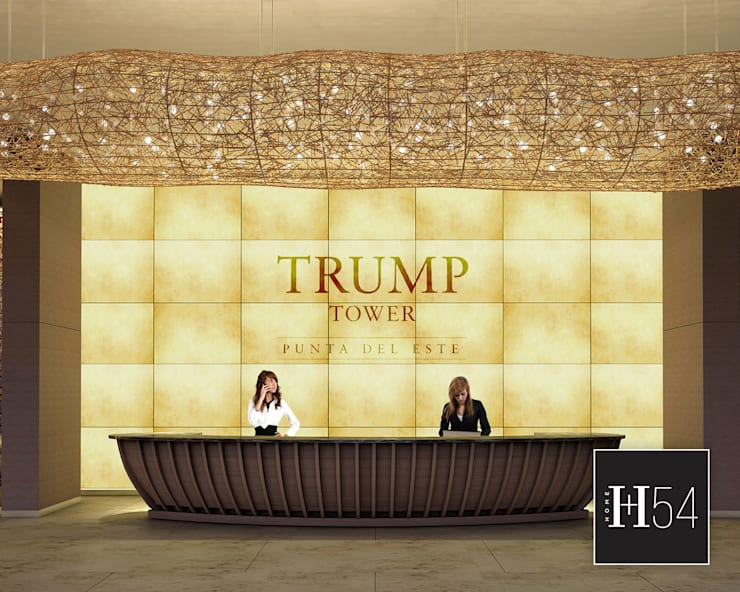 TRUMP TOWER, PUNTA DEL ESTE.: Hoteles de estilo  por Home54