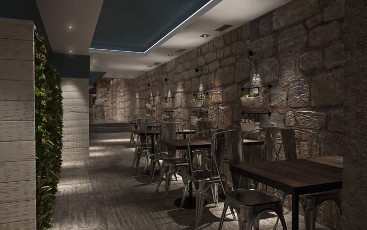 Sala 1: Espaços de restauração  por Tiago Martins - 3D