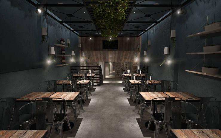 Sala 3 : Espaços de restauração  por Tiago Martins - 3D