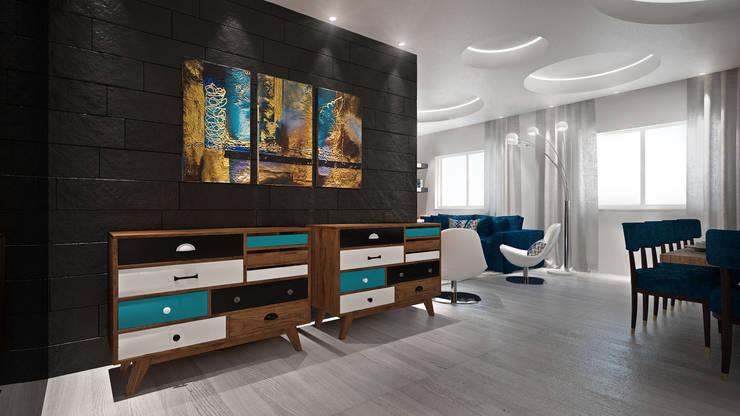Sala: Salas de estar  por Tiago Martins - 3D