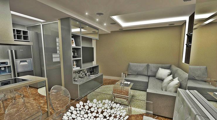 Salas / recibidores de estilo  por Atelier Par Deux