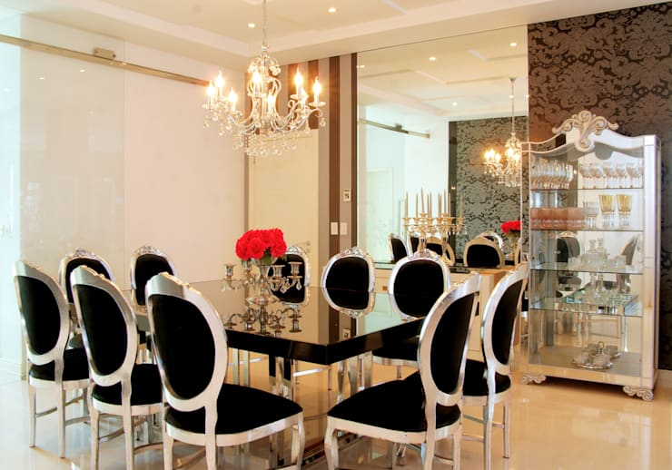 Ruang Makan oleh Penha Alba Arquitetura e Interiores, Klasik