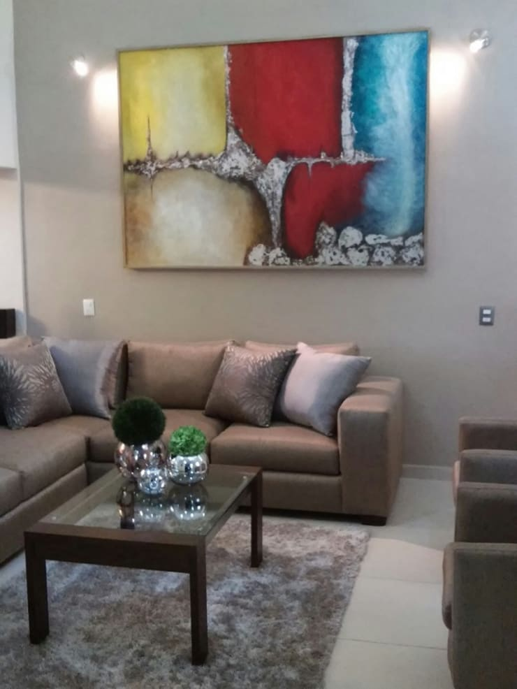Vista estancia: Salas de estilo  por DONATELLO Interiores