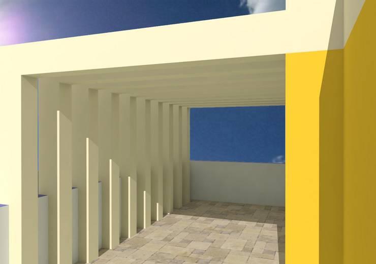 Vivienda La Rosa: Casas de estilo  por Taller Esencia