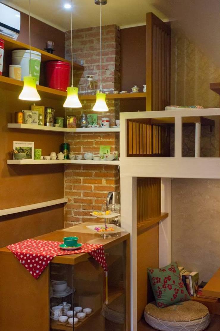 Casa de Té Caracas Tea Co.: Espacios comerciales de estilo  por TRIBU ESTUDIO CREATIVO