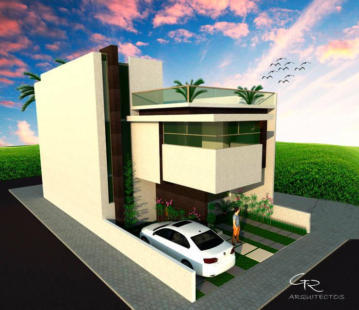 House BR : Casas de estilo  por GT-R Arquitectos