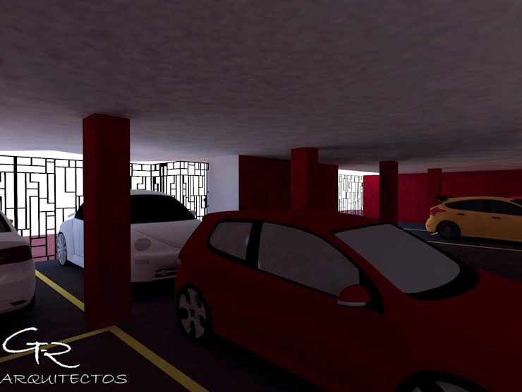 Loft Montecillo 05 : Garajes de estilo  por GT-R Arquitectos