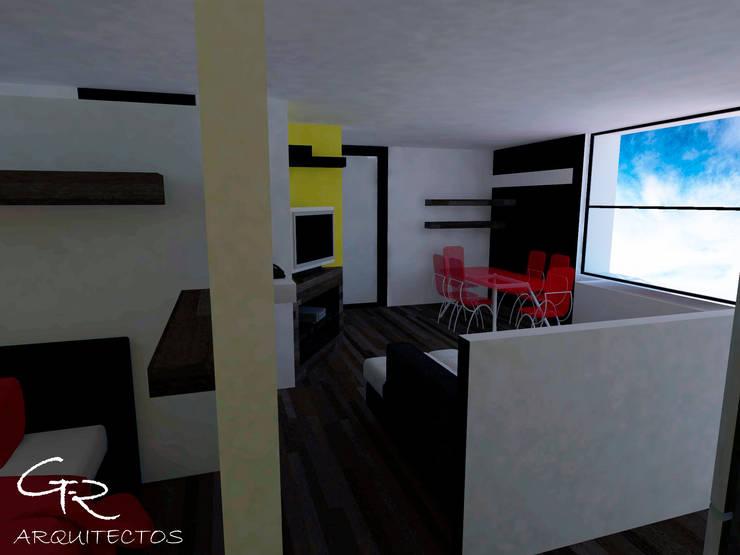 Loft Montecillo 05 : Comedores de estilo  por GT-R Arquitectos