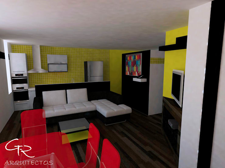 Loft Montecillo 05 : Salas de estilo  por GT-R Arquitectos