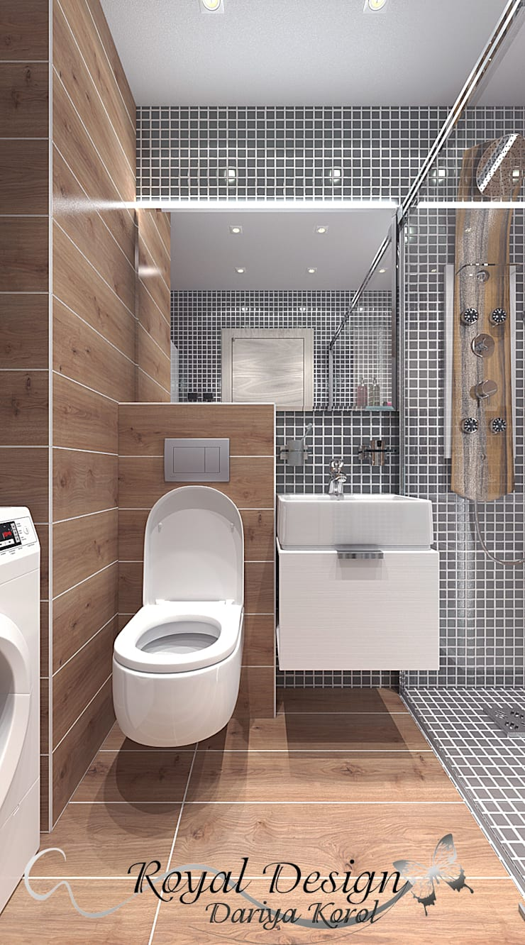 Bathroom by Your royal design, Industrial Wood Wood effect