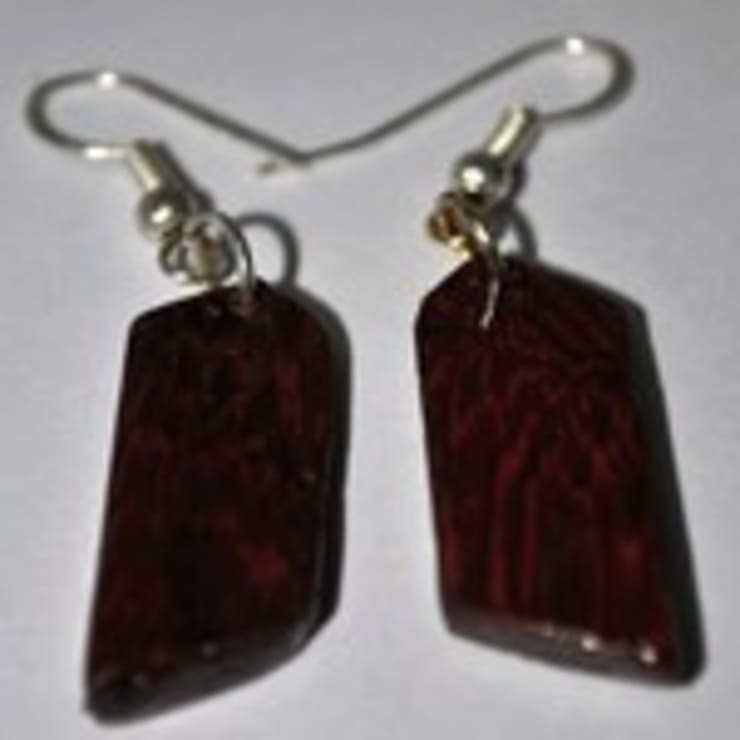 Wooden Earring:   by Alyth Creations
