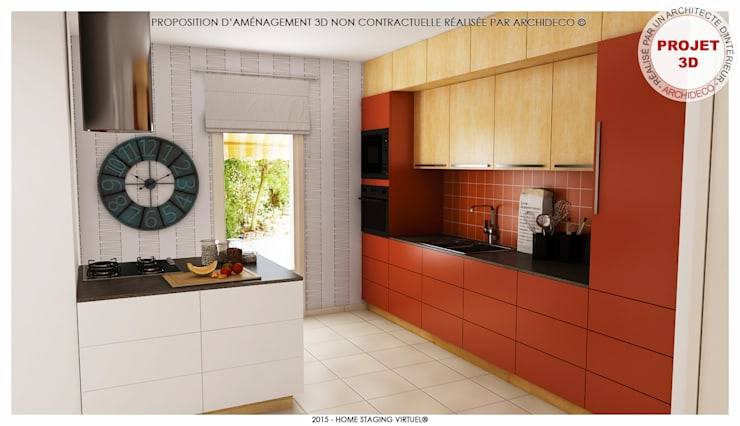 Magnifique et optimisée. Apprécier et cuisiner : Cuisine de style de style Moderne par ArchiDeco