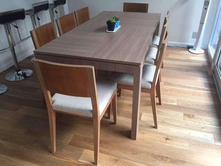 Proyecto de Interiorismo Cliente Palermo Andy Comedores modernos de Xime Russo Interiores Moderno Madera Acabado en madera