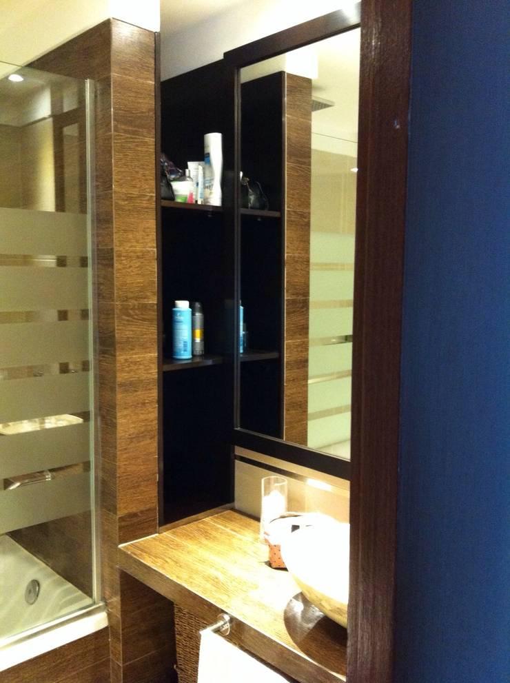 Proyecto de Interiorismo Cliente Palermo Andy Baños modernos de Xime Russo Interiores Moderno Madera Acabado en madera