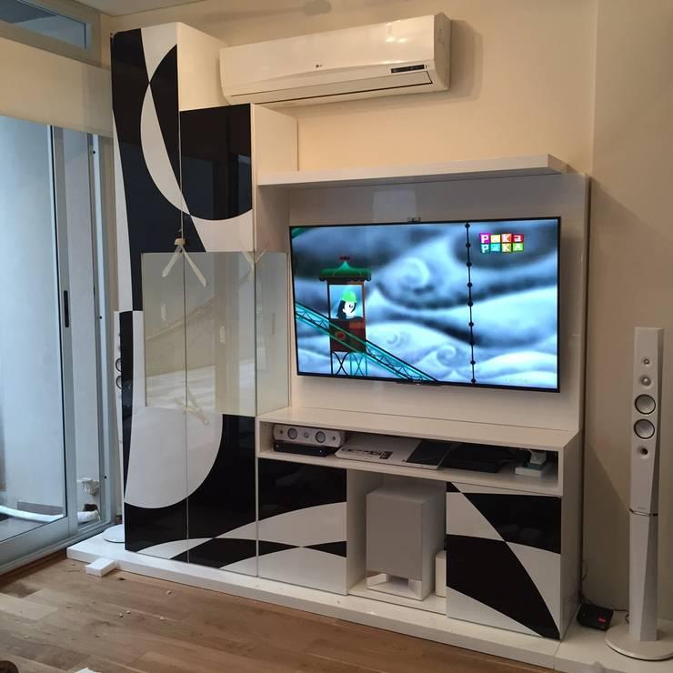 Proyecto de Interiorismo Cliente Palermo Andy Livings modernos: Ideas, imágenes y decoración de Xime Russo Interiores Moderno Madera Acabado en madera