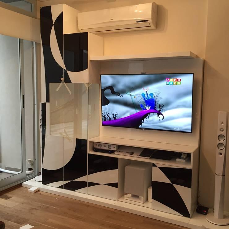 Proyecto de Interiorismo Cliente Palermo Andy Livings modernos: Ideas, imágenes y decoración de Xime Russo Interiores Moderno