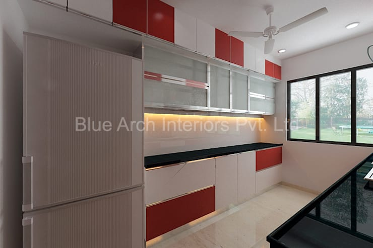 Subramanium Residence (Mulund): modern  by Bluearch Architects & Interiors,Modern Aluminium/Zinc
