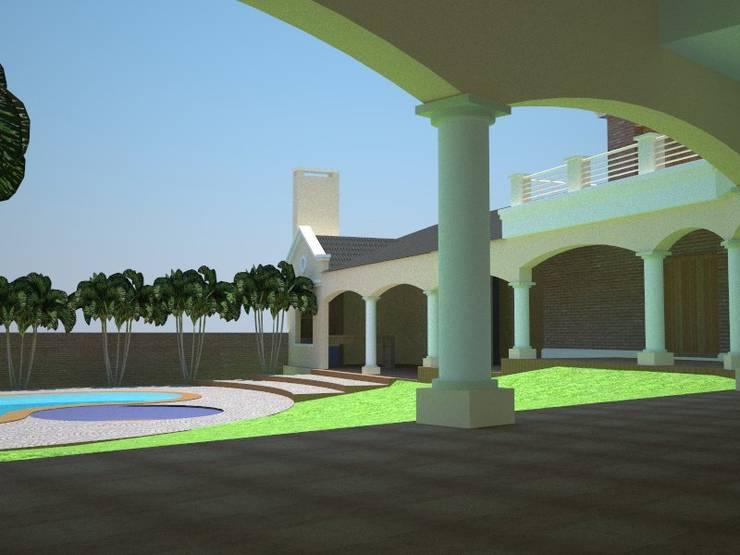 Vivienda Halberstadt – Sartori: Jardines de estilo  por G+R Arquitectura,