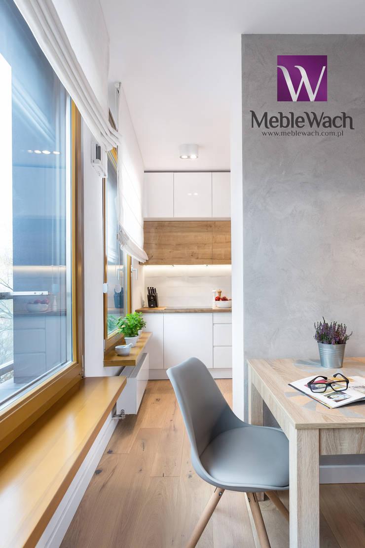 REALIZACJA WARSZAWA WILANÓW : styl , w kategorii  zaprojektowany przez MEBLE WACH,Nowoczesny