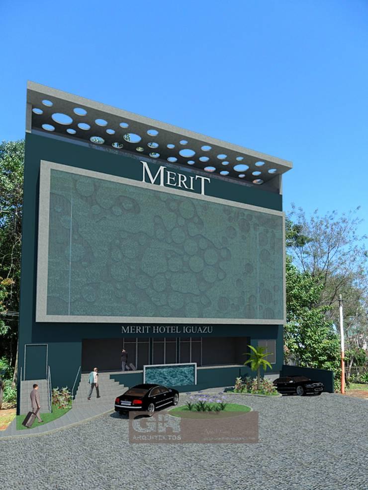 Mérit Hotel Iguazu: Casas de estilo  por G+R Arquitectura