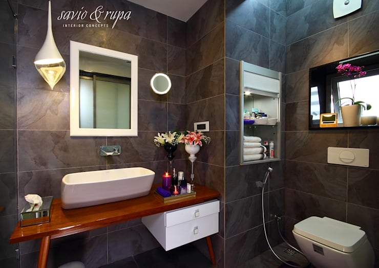 Bathroom تنفيذ Savio and Rupa Interior Concepts