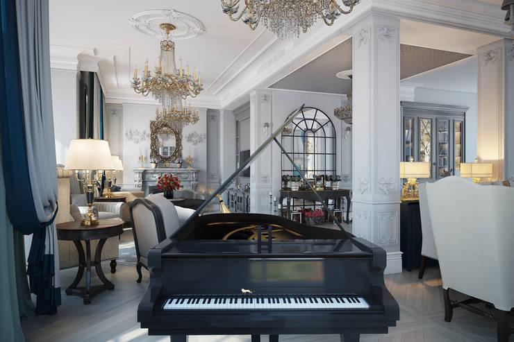 Salas / recibidores de estilo  por Александра Клямурис, Clásico