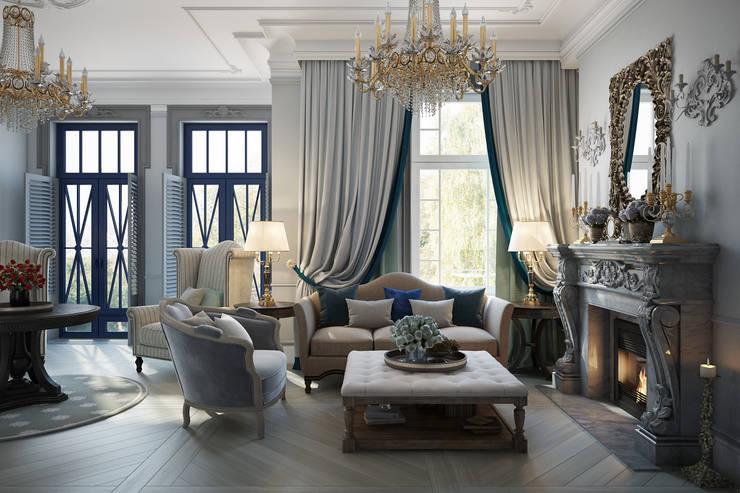 ห้องนั่งเล่น by Александра Клямурис