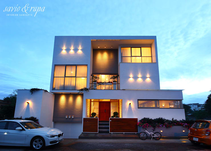Front Elevation:  Interior landscaping by Savio and Rupa Interior Concepts