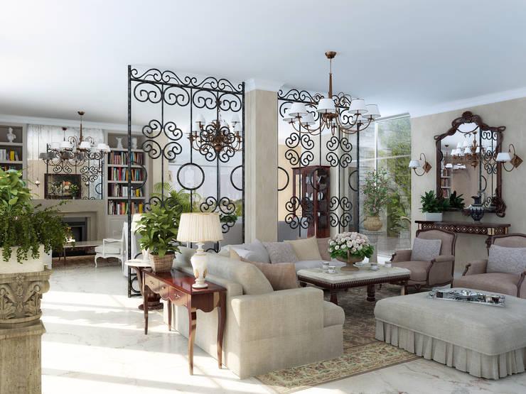 Salas / recibidores de estilo  por ELLE DESIGN STUDIO