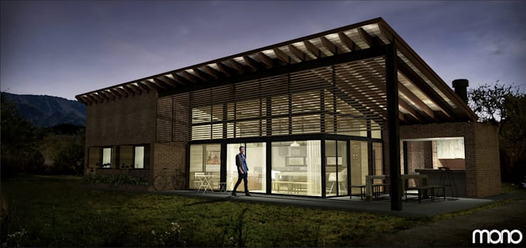 CASA PARA UN AMIGO : Casas de estilo  por Estudio Mono