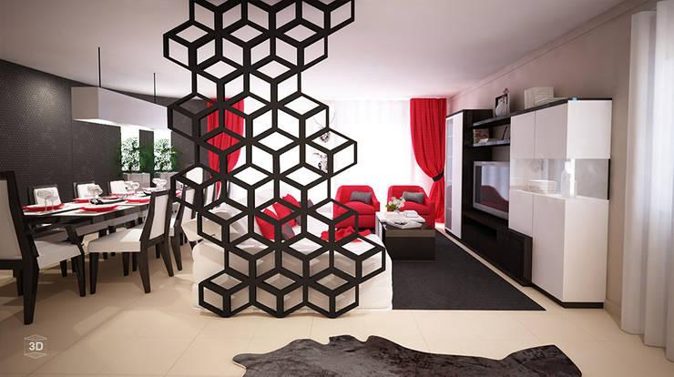 GEOMETRIC: Salas de estar  por GRAÇA Decoração de Interiores