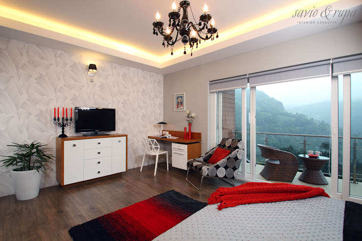 Master Suite:  Bedroom by Savio and Rupa Interior Concepts