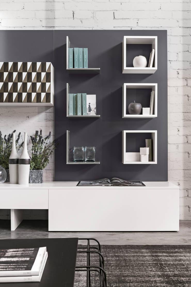 Magnetyczne panele i akcesoria do biura, kuchni oraz łazienki. Ronda Design. Magnetika: styl , w kategorii  zaprojektowany przez BandIt Design,Minimalistyczny
