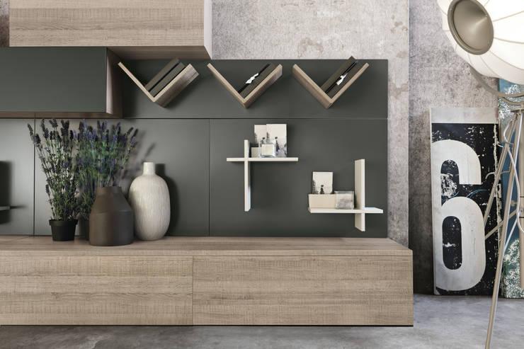 Magnetyczne panele i akcesoria do biura, kuchni oraz łazienki. Ronda Design. Magnetika: styl , w kategorii  zaprojektowany przez BandIt Design,Minimalistyczny Drewno O efekcie drewna