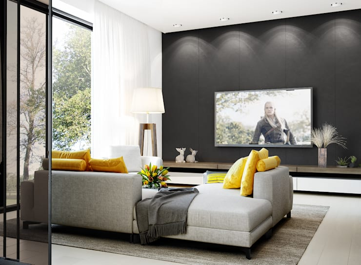 Livings de estilo  por PRIVALOV design