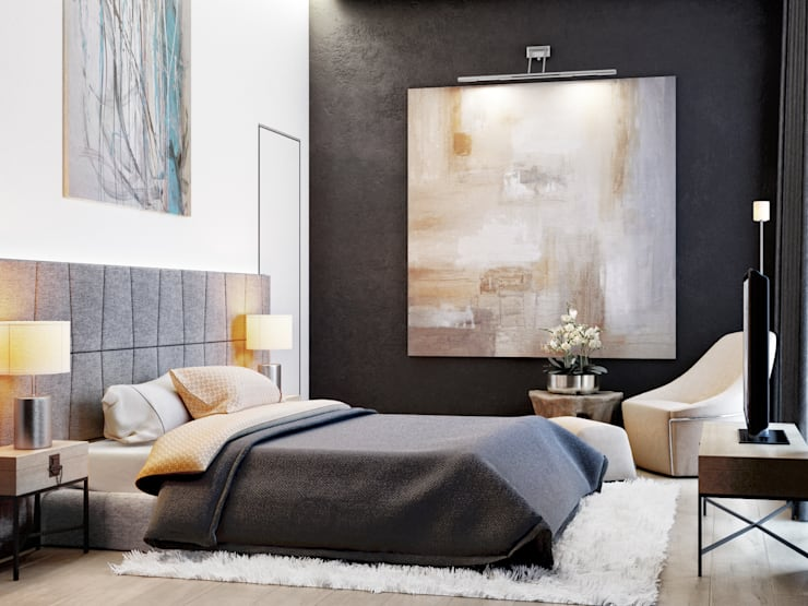 غرفة نوم تنفيذ PRIVALOV design