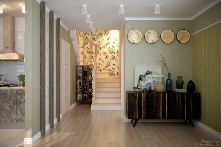 """Дизайн 1-го этажа частного дома в коттеджном поселке """"Бавария"""": Коридор и прихожая в . Автор – Студия интерьерного дизайна happy.design"""